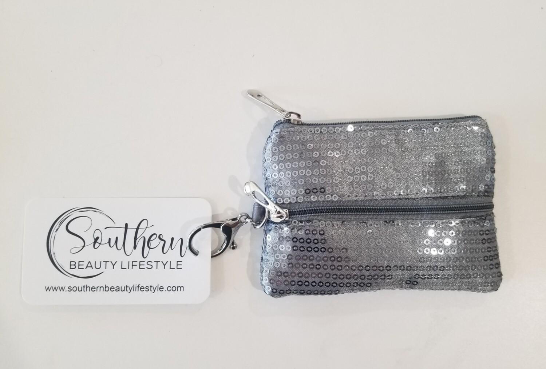 Silver Mask Holder Keychain