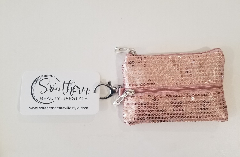 Pink Mask Holder Keychain