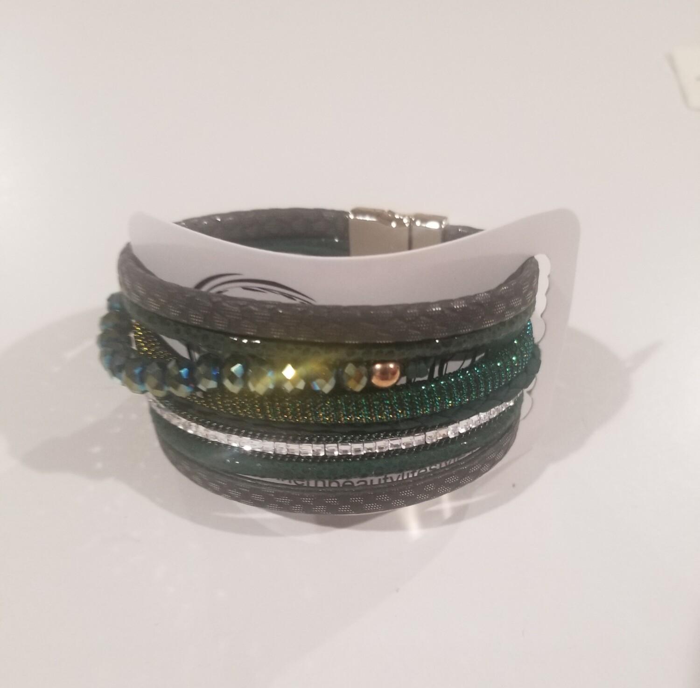 Green Multi Strand Bracelet