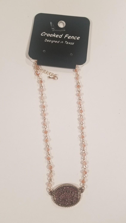 Peach Choker Necklace