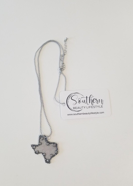 Silver Rustic Texas Necklace