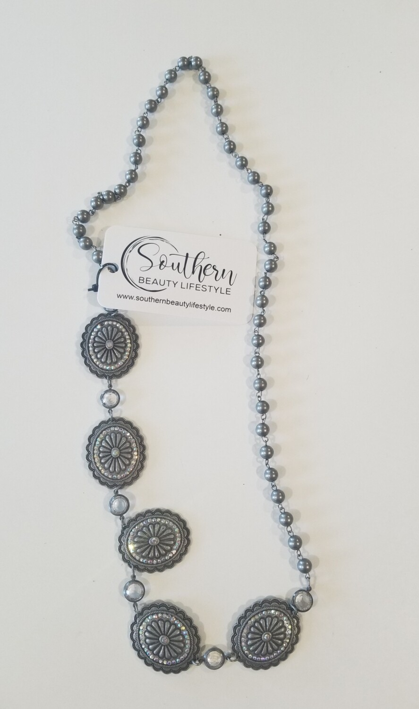 Silver 5 Pendant Necklace