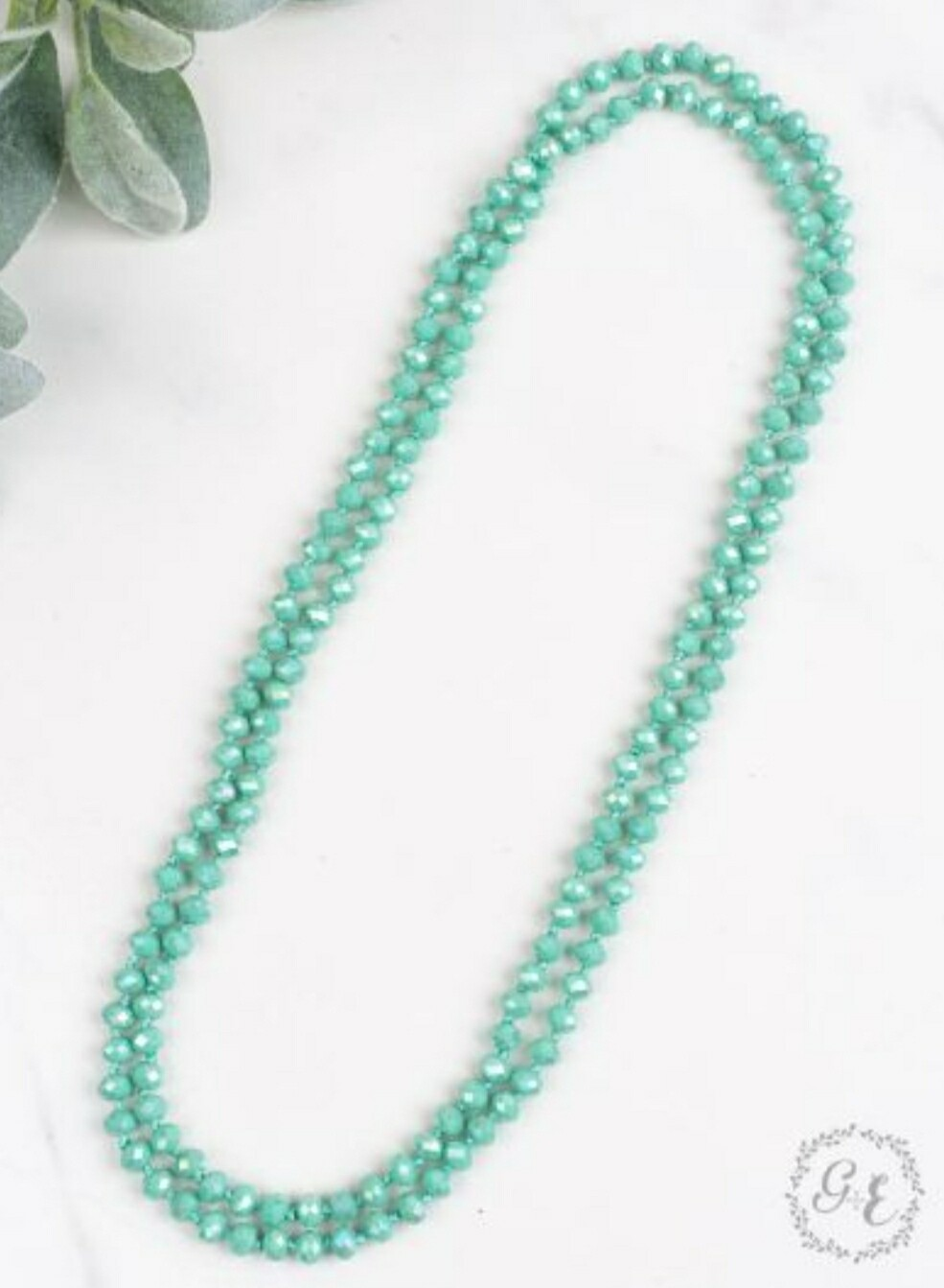"""Turquoise 60"""" Beaded Necklace"""