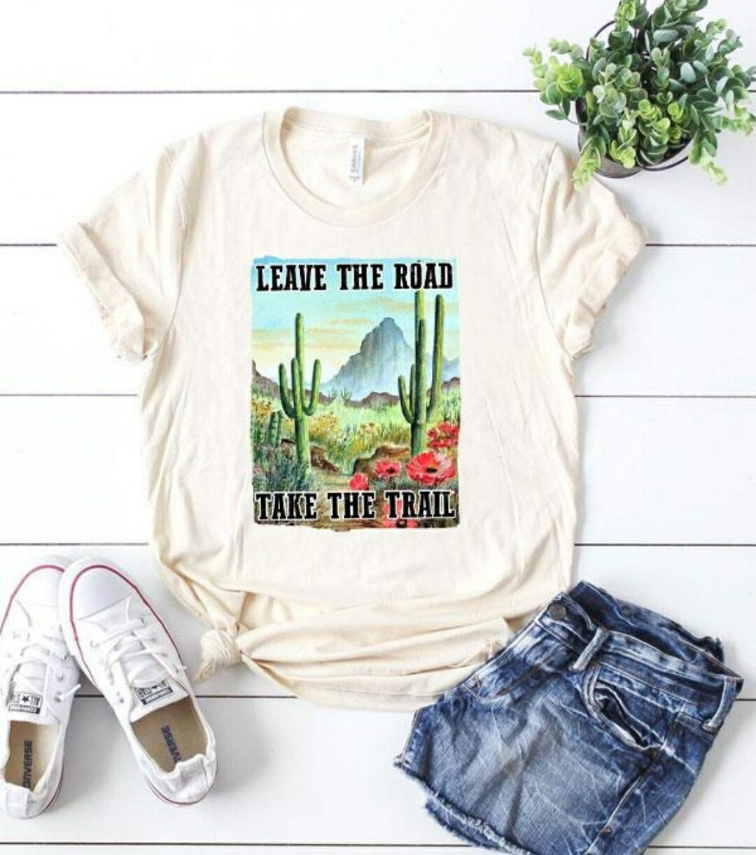White Leave The Road Take The Trail Shirt Size S