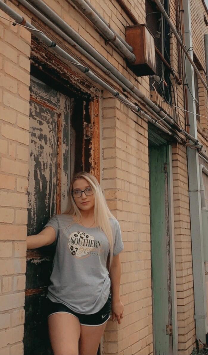 Next Level Heather Gray Roll Sleve Southern Beauty Lifestyle Shirt