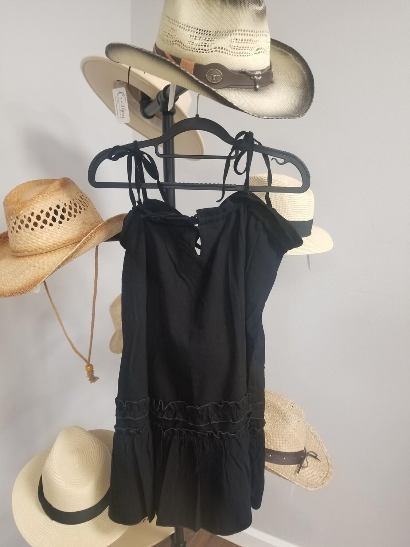 Black Short Tie Dress
