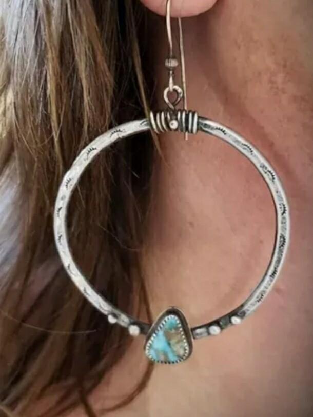 Turquoise Dangle Drop Earrings