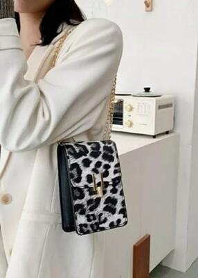 Black Leopard Crossbody