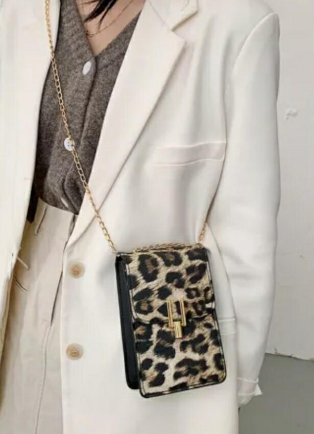 Brown Leopard Crossbody