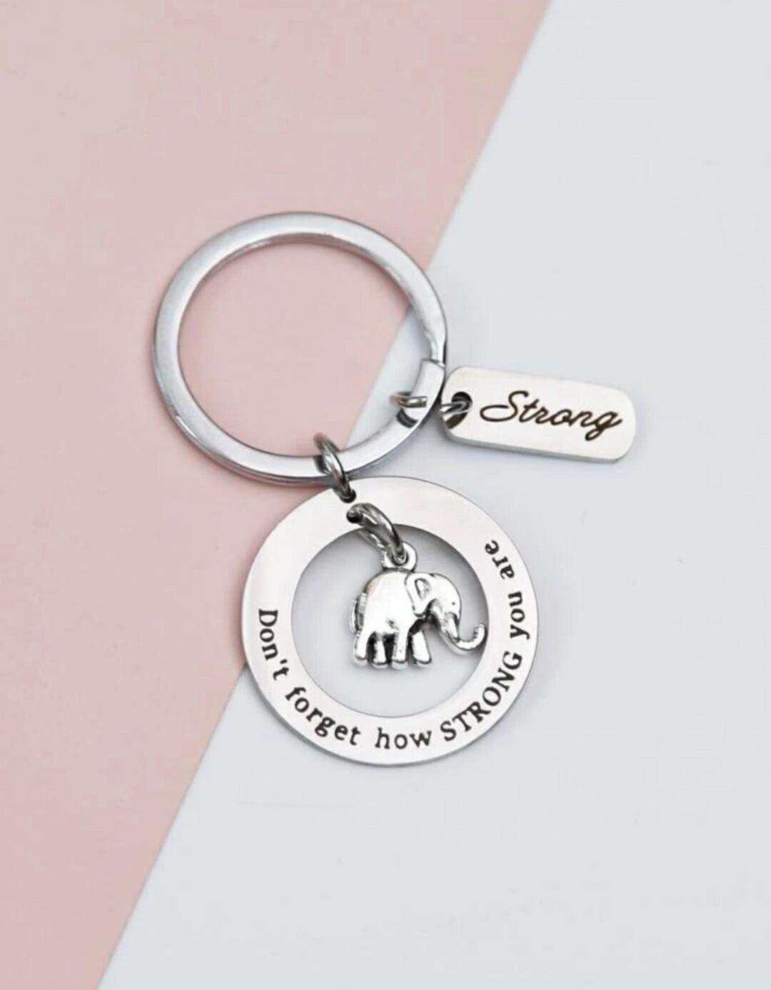 Elephant Charm Keychain