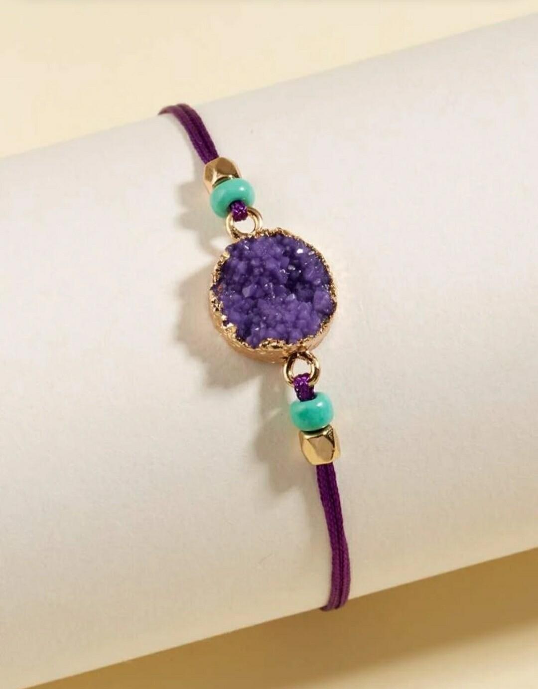 Purple String Bracelet