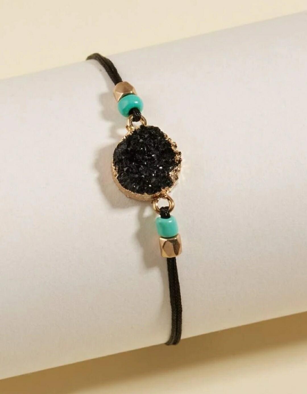 Black Round Bracelet