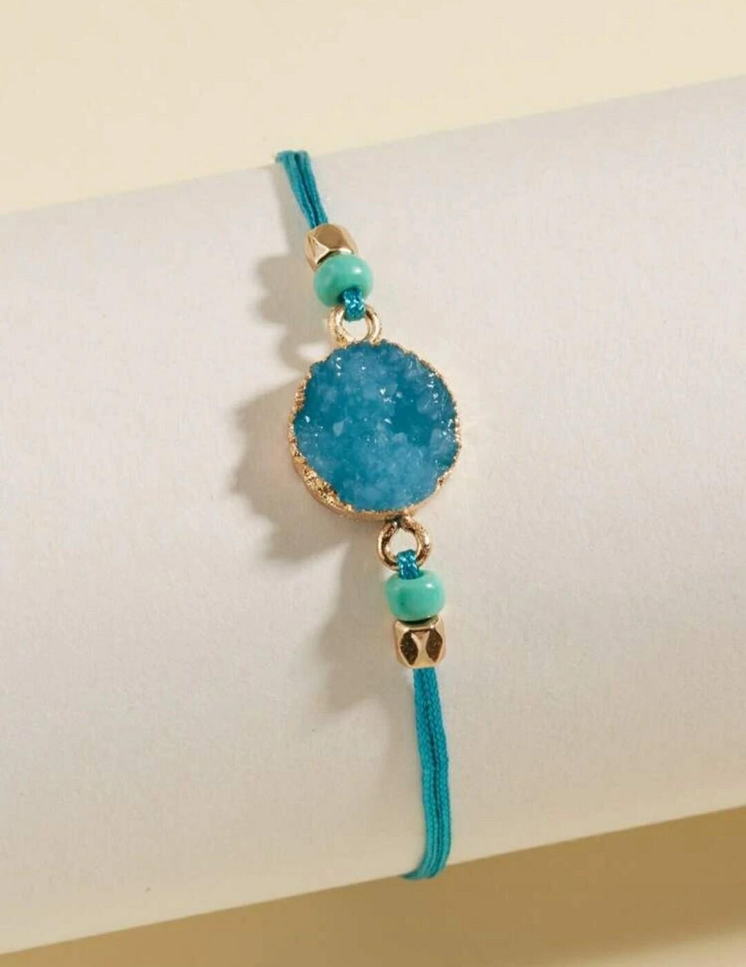 Teal Round Bracelet