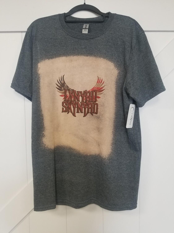 Gray & Bleached Lynyrd Skynyrd Shirt Size M