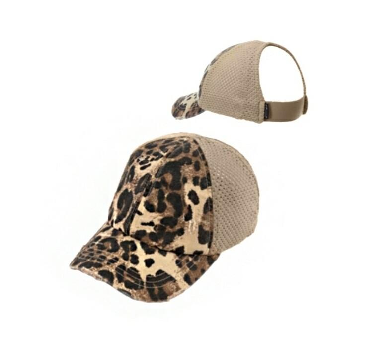 Leopard & Beige Cap