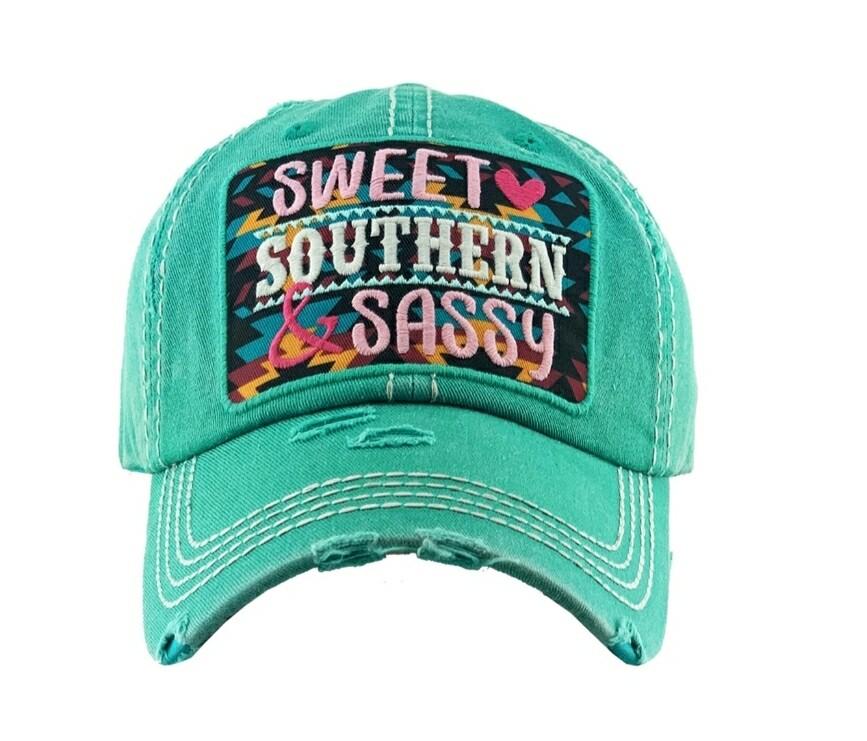 Teal Sweet Southern & Sassy Cap