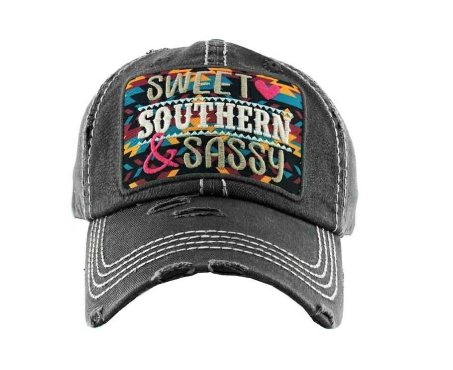 Black Sweet Southern & Sassy Cap
