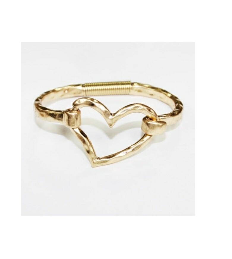 Gold Heart Bracelet