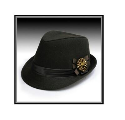 Brown Fedora & Pendant Hat