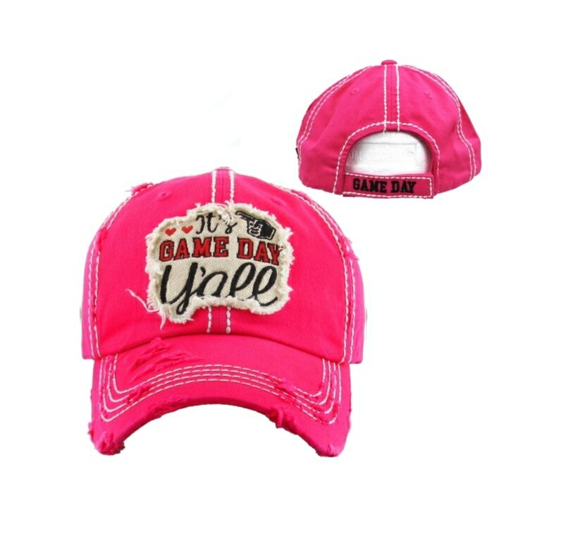 Pink Its Game Day Yall Cap