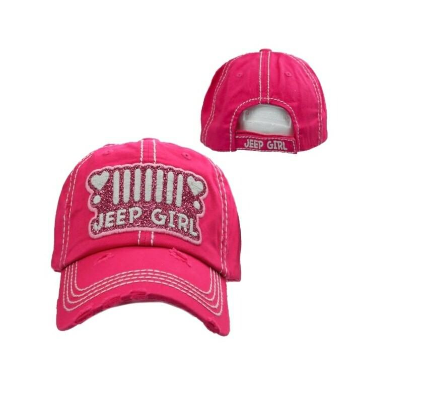 Pink Jeep Girl Cap