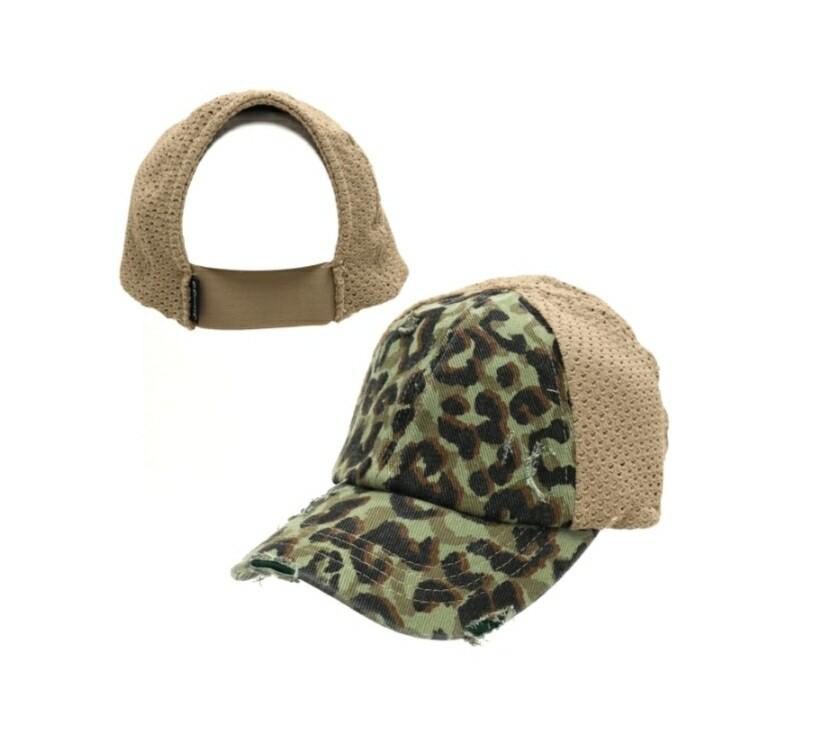 Sage Leopard Cap