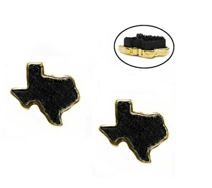 Black Texas Earrings