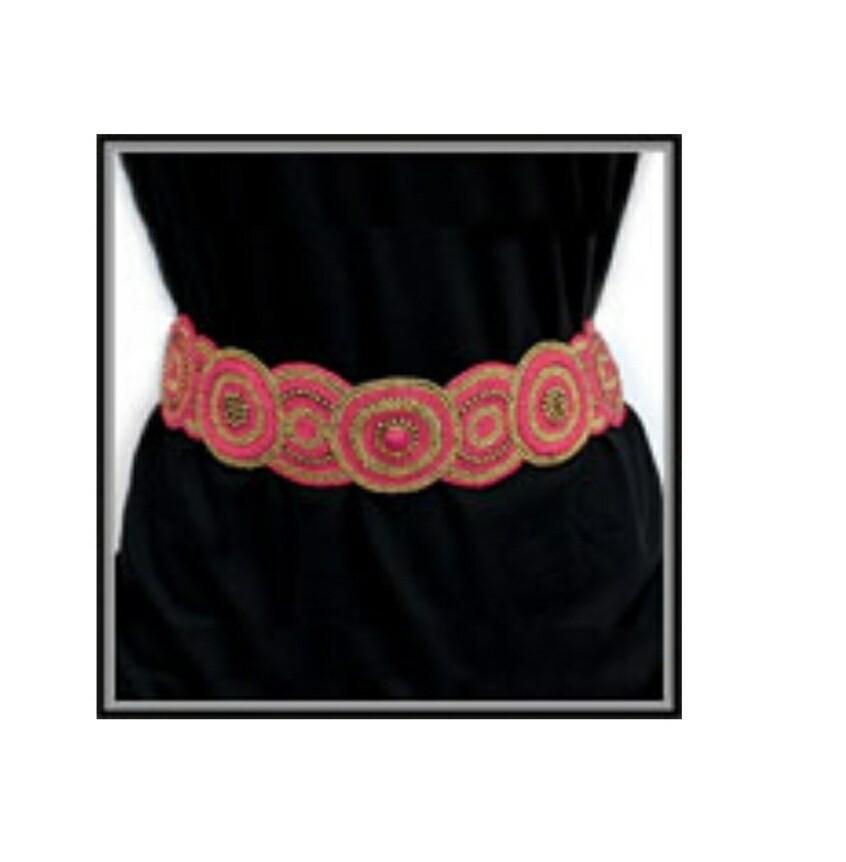 Pink Beaded Belt