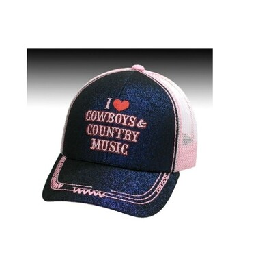 I Love Cowboys & Country Music Cap