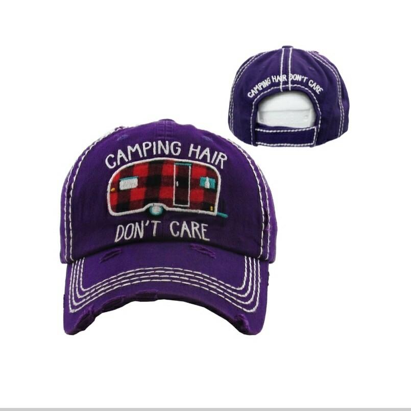 Purple Camp Hair Dont Care Cap