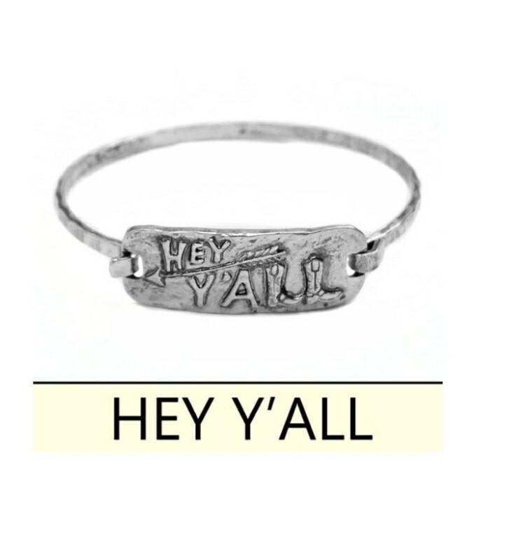 Hey Yall Silver Bracelet