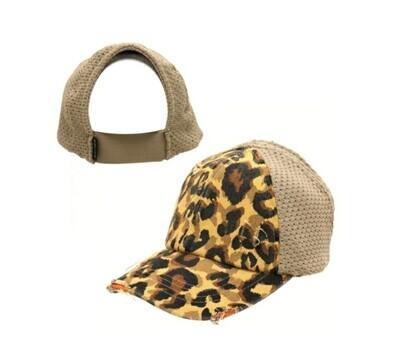 Mustard Leopard Cap