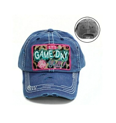 Blue Its Game Day Yall Cap