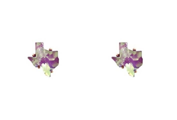 Purple Texas Earrings
