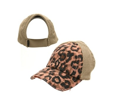 Dusty Rose Leopard Cap