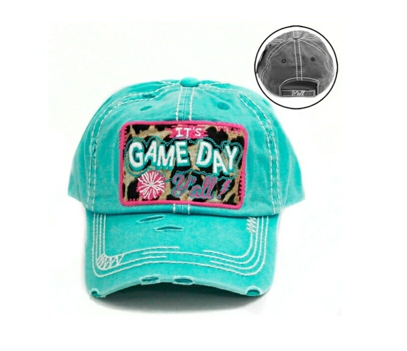 Teal Its Game Day Yall Cap