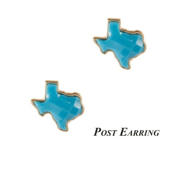 Baby Blue Texas Earrings