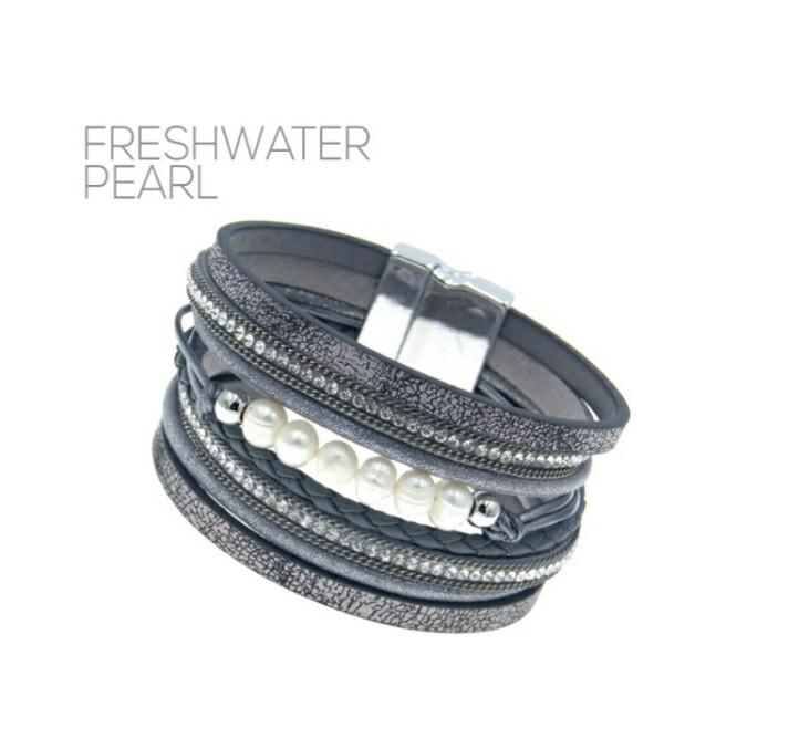 Gray Freshwater Pearl Bracelet