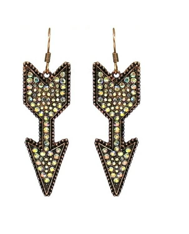 Copper Arrow Earrings