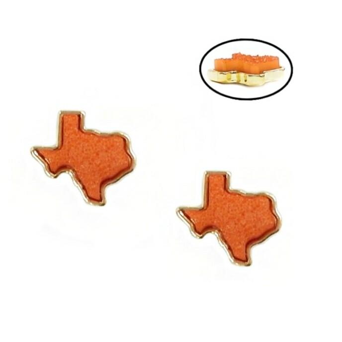 Orange Texas Stud Earrings