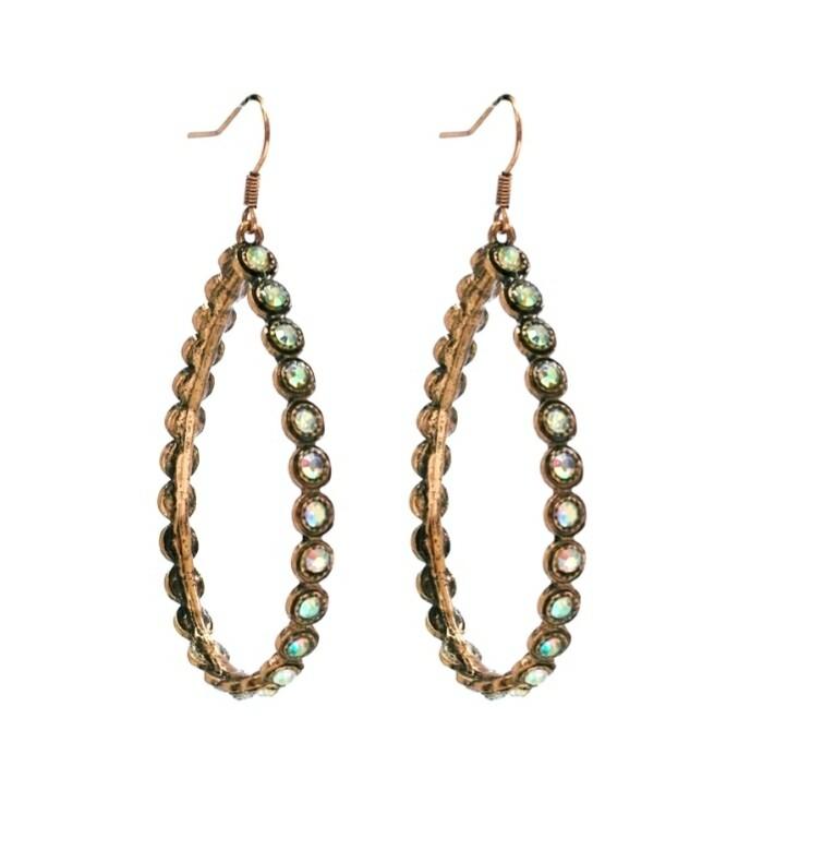 Copper Studded Hoop Earrings
