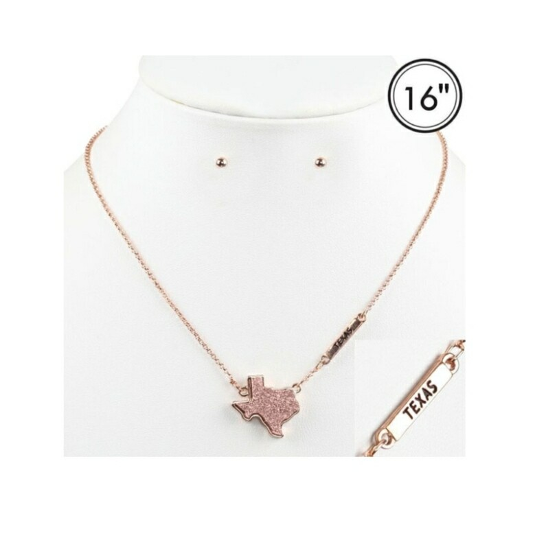 Rose Texas Necklace With Studs