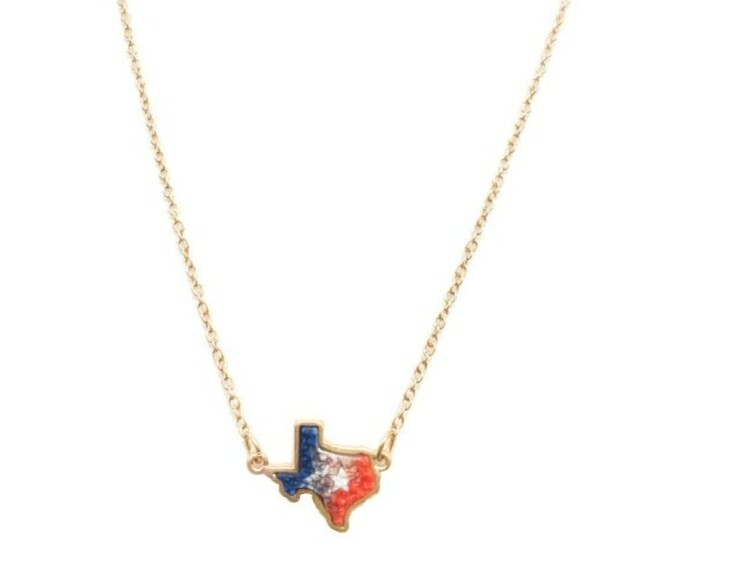 Red White & Blue Texas Necklace