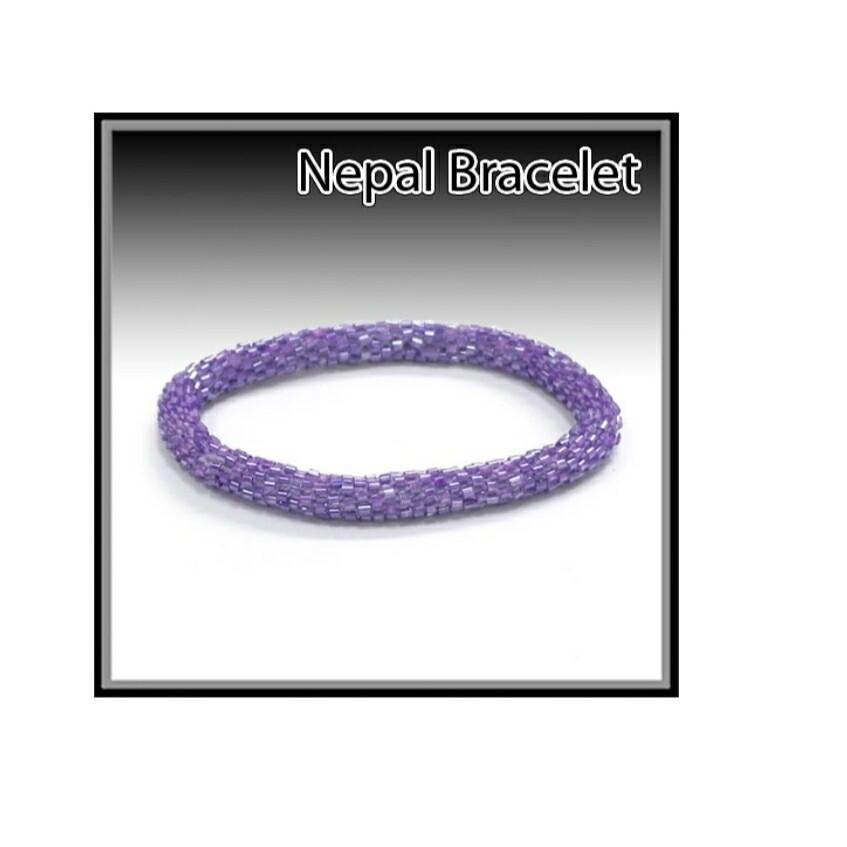 Violet Nepal Bracelet