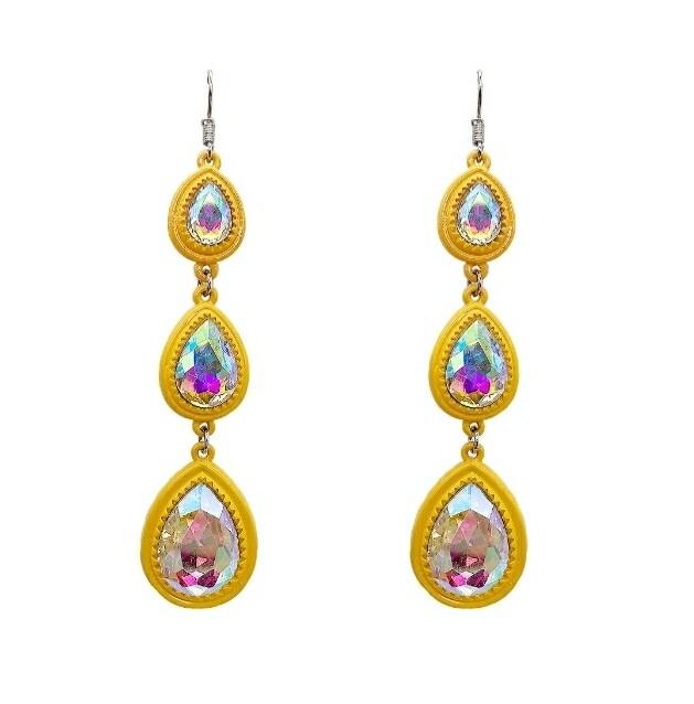 Yellow 3 Tier Earrings