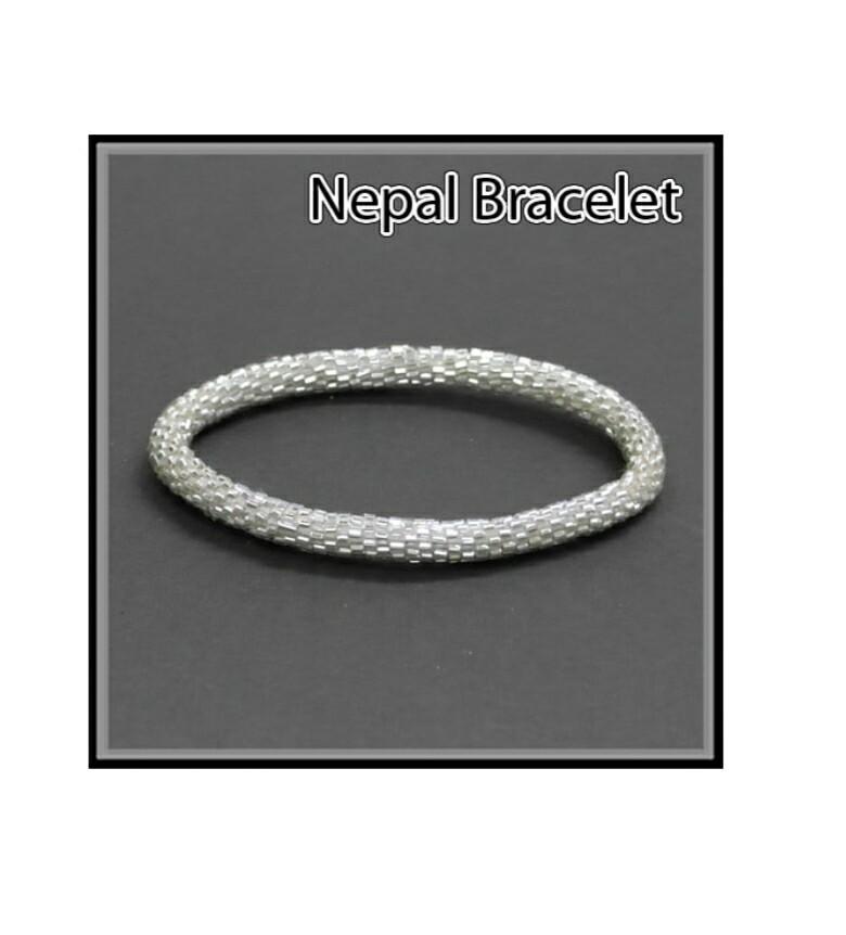 White Nepal Bracelet