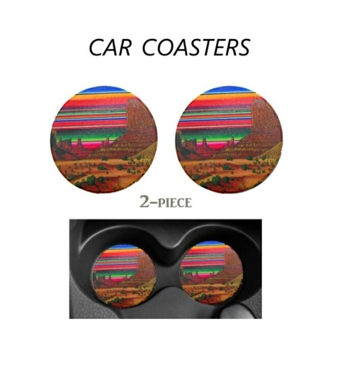 Serape Car Coasters