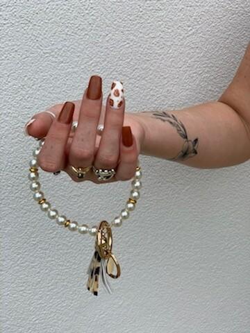 Pearl Keychain Bracelet