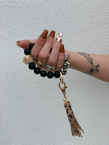 Leopard Tassel Key Ring