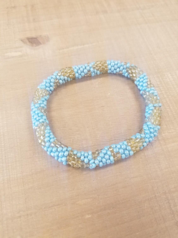 Turquoise & Gold Nepal Bracelet